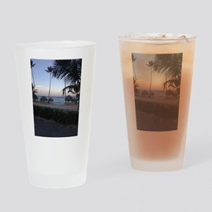 Punta Cana Beach at Sunset Drinking Glass
